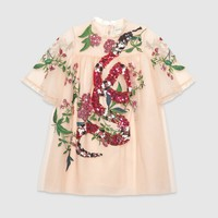 Gucci Children's embroidered tulle dress