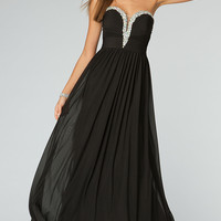 Strapless Black Evening Gown JVN by Jovani