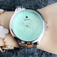 GUCCI Popular Women Men Chic Quartz Watches Business Wrist Watch Mint Green I-H-JH