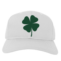 Lucky Four Leaf Clover St Patricks Day Adult Baseball Cap Hat
