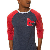 The Boston Red Sox Hustle Play Henley in Blue