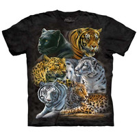 The Mountain BIG CATS T-Shirt Snow Leopard Tiger Black Panther Cougar S-5XL NEW!