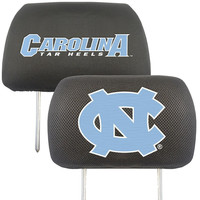 North Carolina Tar Heels NCAA Polyester Head Rest Cover (2 Pack)