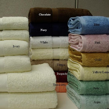 6-Pc Solid combed  Egyptian cotton Towel set