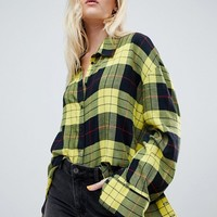 Cheap Monday flannel check shirt in plaid at asos.com