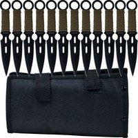 Whetstone Cutlery 12 Piece Set of S-Force Kunai Knives with Carrying Case