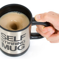 Self Stirring Coffee Cup Mug Gift Novelty Fun