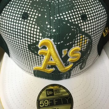 OAKLAND A'S 5950 MLB FITTED ONFIELD HAT PICK THE HAT YOU WANT SHIPPING