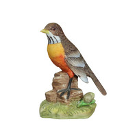 Robin Bird Sculpture by J Byron of Royal Crown, Vintage Porcelain, Nature Figurine