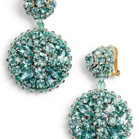 Oscar de la Renta Bold Disc Crystal Drop Earrings | Nordstrom