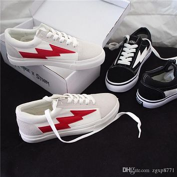 REVENGE x STORM Unisex Low-Top & High-Top Adult Canvas Shoes 2 colors Laced Up Casual Shoes woman Sneaker shoes MAN