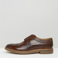 Base London Turner Leather Brogue Shoes at asos.com