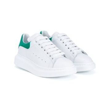 ALEXANDER MCQUEEN | Leather Trainers With Green Suede Trim | Womenswear | Browns Fashion