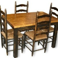 Primitive Country Table & Four Ladderback Chairs | CountryFurniture - Furniture on ArtFire