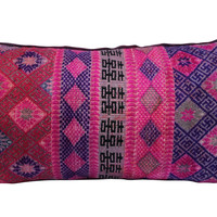 Handwoven Silk Patterned   Pillow