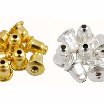 ON SALE - Replacement Earring Backs Stopper/Bullet Style Gold, Silver or Mixed