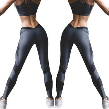 New Fashion Women Clothes High Waist Workout Fitness Legging Stretch Casual Trousers Women Ladies