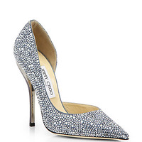 Whistler Swarovski Crystal-Covered Suede d'Orsay Pumps