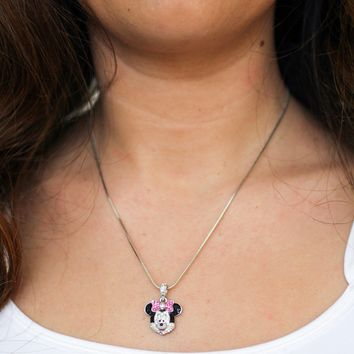 Minnie Mouse Face Necklace