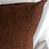 Brown Burlap Decorative Pillows,Holiday Pillow,Christmas Pillow,Brown Throw Pillow Cover,Cushion Cover 18x18, Bedroom,Textured Pillows
