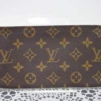 Authentic Louis Vuitton Cosmetic Pouch Bucket Pouch Browns Monogram 41623