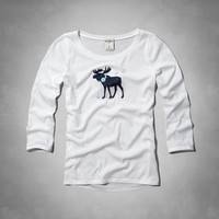 cute moose graphic tee