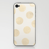 Gold Polka Dots iPhone & iPod Skin by Georgiana Paraschiv