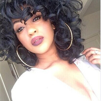 Synthetic African American Hair Curly Wig