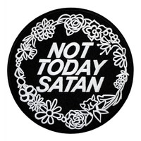 Extreme Largeness Not Today Satan Iron-On Back Patch   Attitude Clothing
