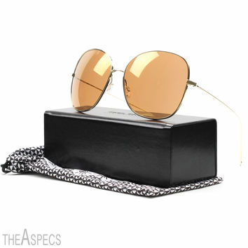Oliver Peoples Isabel Marant Daria Sunglasses Light Gold with Peach Mirror