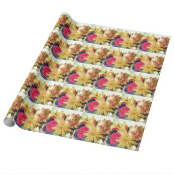 VIVID FLOWERS WRAPPING PAPER