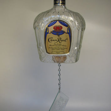 CROWN ROYAL Bottle Windchime / Bar Bell by Thegecko on Etsy