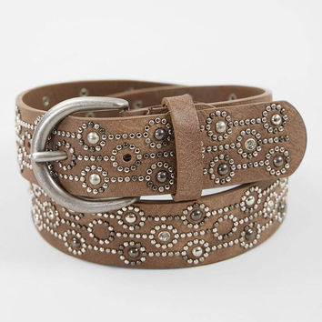 BKE Circular Studded Glitz Belt - Women's Accessories in Brown Taupe | Buckle