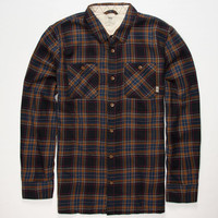 Vans Birch Mens Flannel Shirt Navy  In Sizes