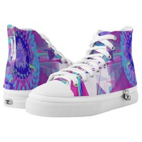 High Top Shoes Printed Shoes