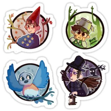 Over the Garden Wall Stickers by Feefles