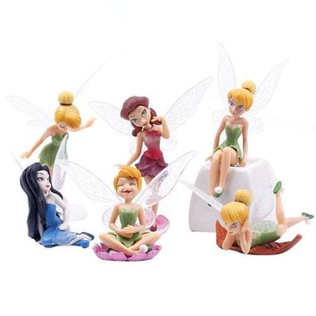 ICIKF4S 6 Pieces/Set Flower Pixie Fairy Miniature Figurine Dollhouse Garden Ornament Decoration Crafts Figurines