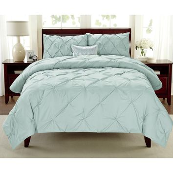 Premium Collection Pintuck 3-piece Comforter Set | Overstock.com Shopping - The Best Deals on Comforter Sets