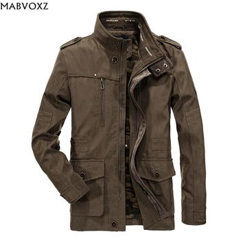 Bomber Men Jacket Plus Size 6XL Autumn 2018 Tactical Cargo Military Army Loose Windbreaker Denim Coat Camouflage inside AFS JEEP
