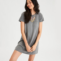 AE Classic Washed T-Shirt Dress, Olive