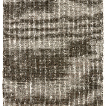 Naturals Stripes Pattern Blue/Neutral Jute Area Rug ( 2x3)