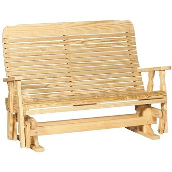 Leisure Lawns Amish Made Yellow Pine Easy Glider Model #504 - Ships FREE within 2 to 3 Weeks