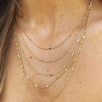 Pull It Together Necklace: Gold