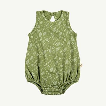 Tropical Leaves Summer Bubble Romper