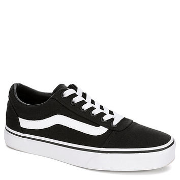 BLACK VANS Womens Ward Low