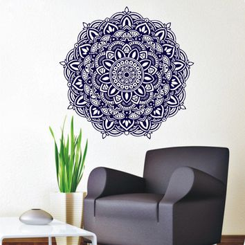 Wall Decals Mandala Meditation Yoga Wall Stickers Buddha Om Symbol Removable Home Decor CW-72