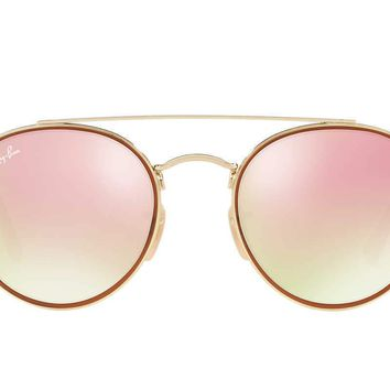 Ray Ban RB3467N 001 70 Goldand Red Frame Gradient Pink 51mm Lens Sunglasses