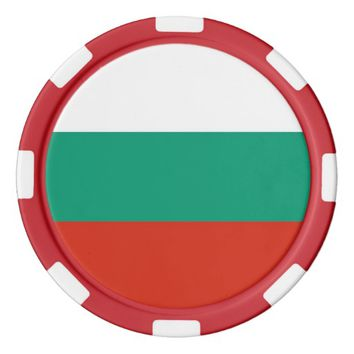 Poker chips with Flag of Bulgaria