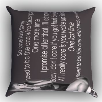 ariana grande one last time lirik X0734 Zippered Pillows  Covers 16x16, 18x18, 20x20 Inches