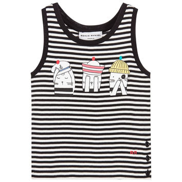 Girls Sailor cat Printed Tank Top